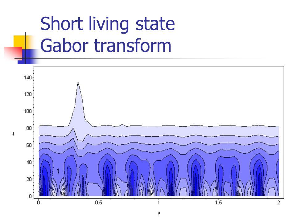 Short living state Gabor transform