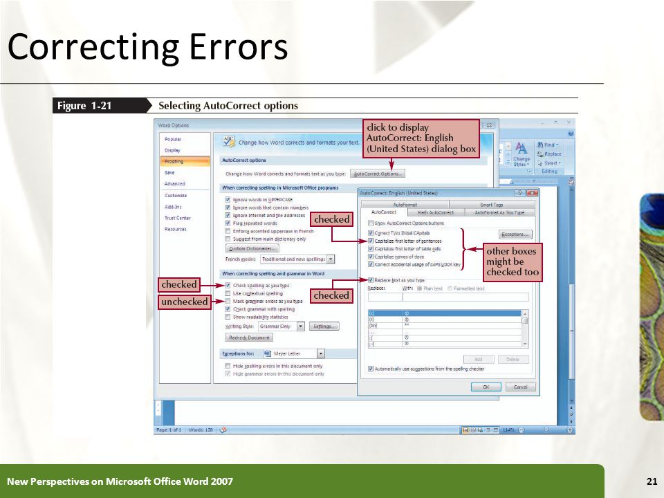 XP Correcting Errors New Perspectives on Microsoft Office Word 200721
