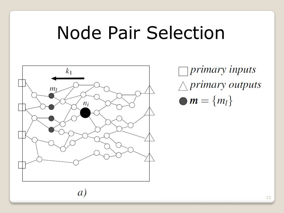 Node Pair Selection 13