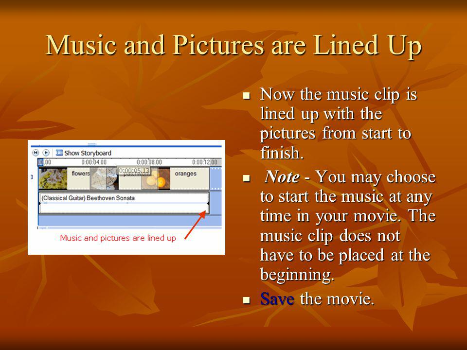 Shorten an Audio Clip Hover the mouse over the end of the music clip until it becomes a two- headed arrow. Drag the end of the music clip to the left