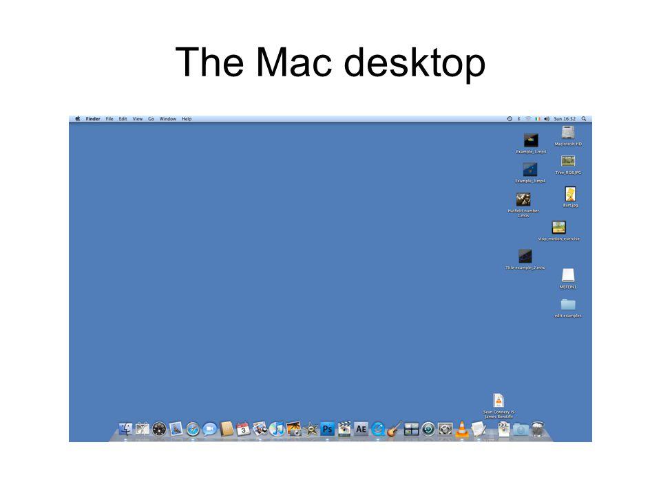 The Mac desktop