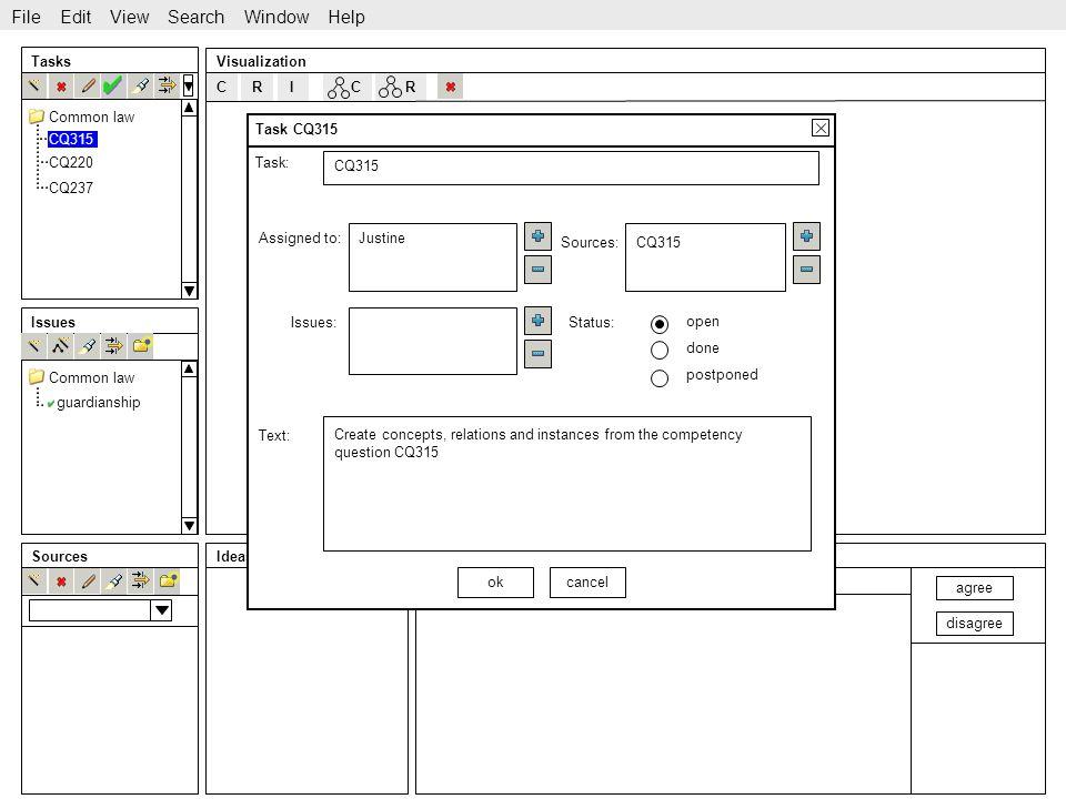 http://www.sekt-project.com Issue C Tasks Issues SourcesIdeas Visualization CQ315 CQ220 CQ237 guardianship File Edit View Search Window Help Common la