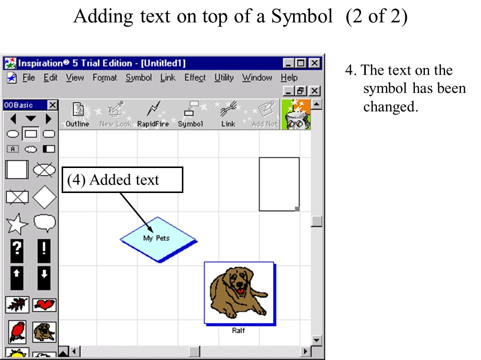 Adding text on top of a Symbol Adding text on top of a Symbol (2 of 2) 4.