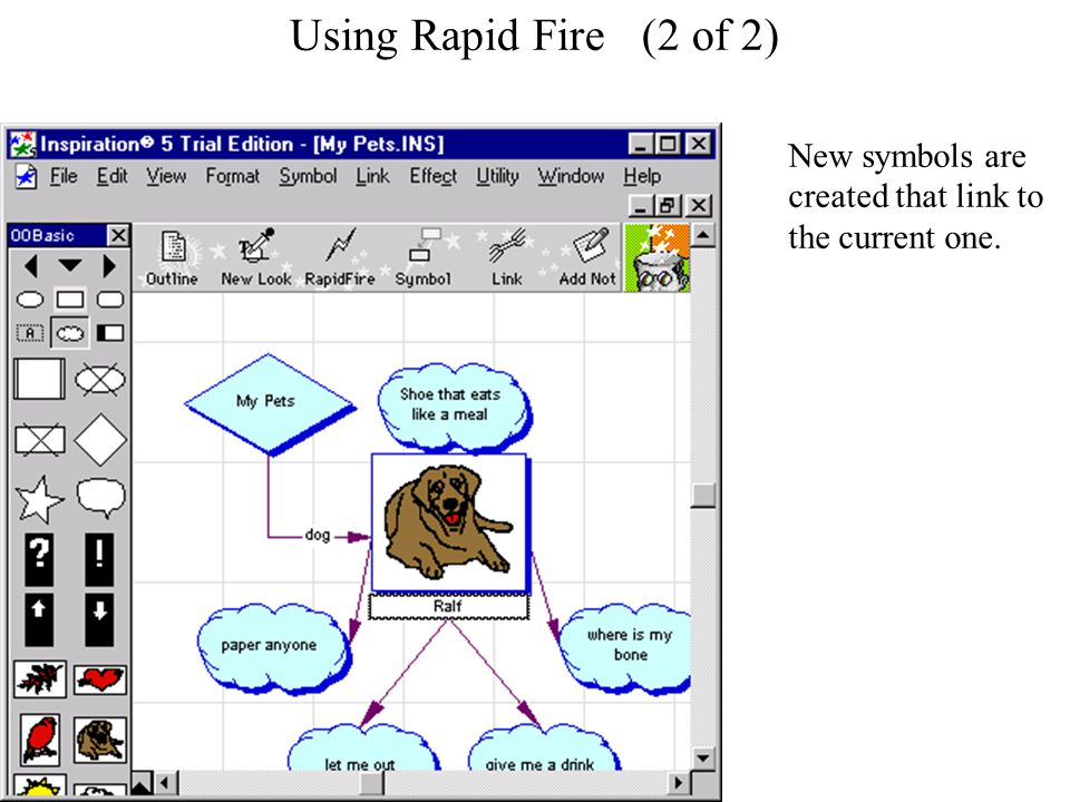 Using Rapid Fire Using Rapid Fire (2 of 2) New symbols are created that link to the current one.