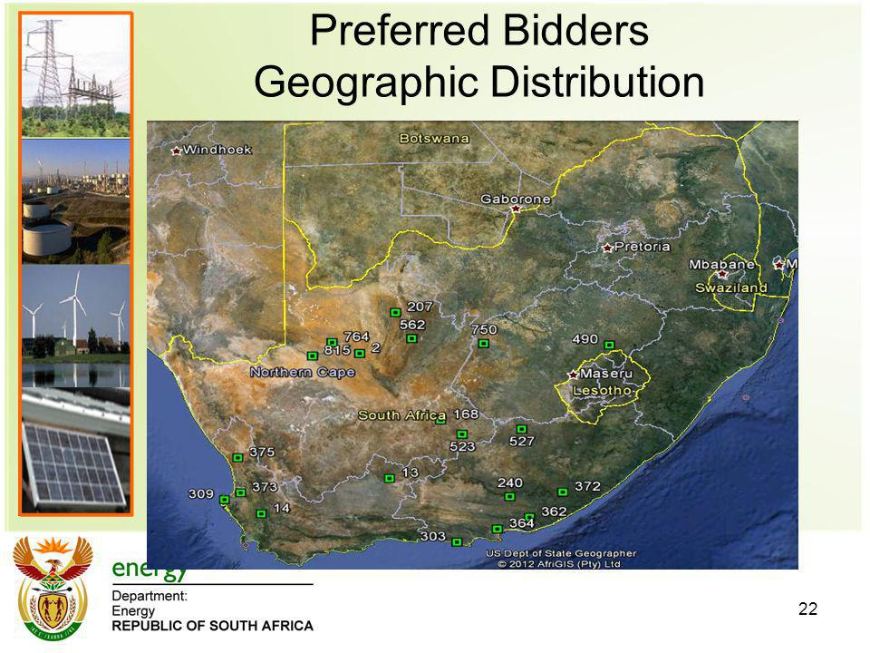 Preferred Bidders Geographic Distribution 22