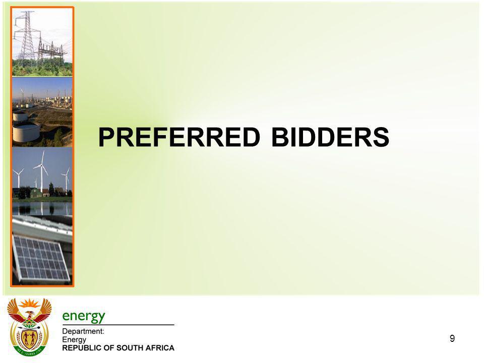 PREFERRED BIDDERS 9