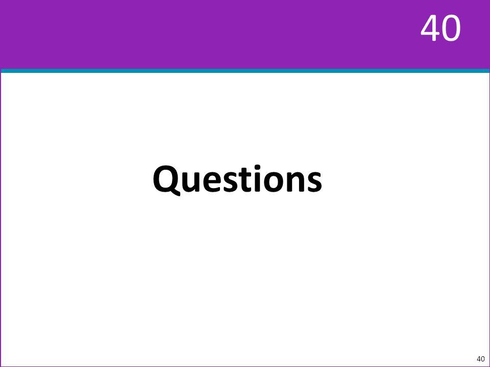 40 Questions 40