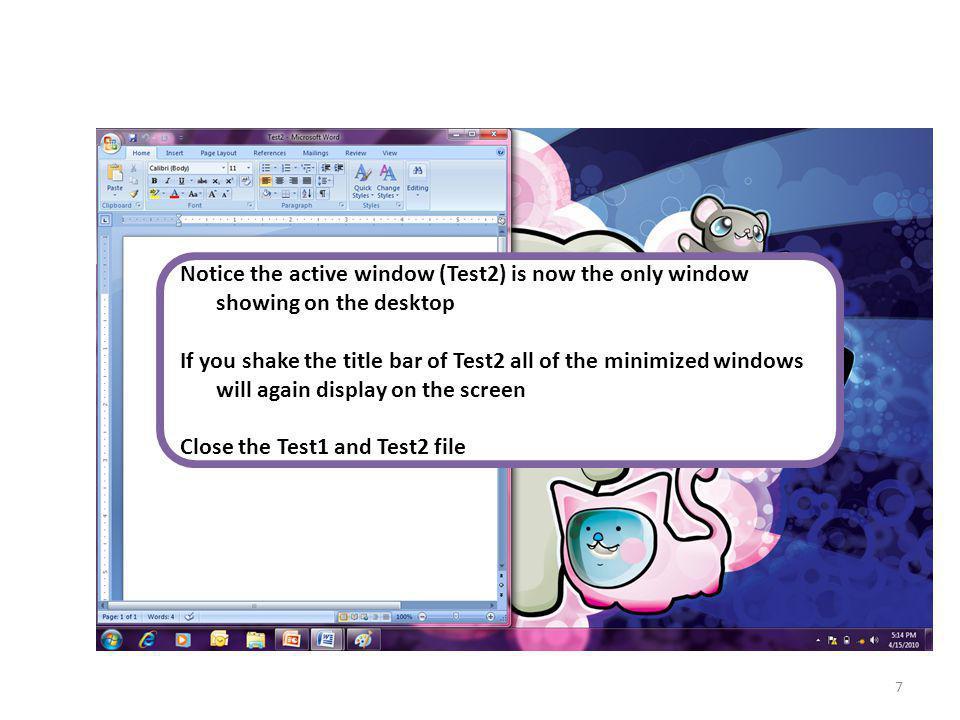 Windows 7 Flip 3D Windows 7 flip 3D renders 3D thumbnail images of the exact contents of your open windows.