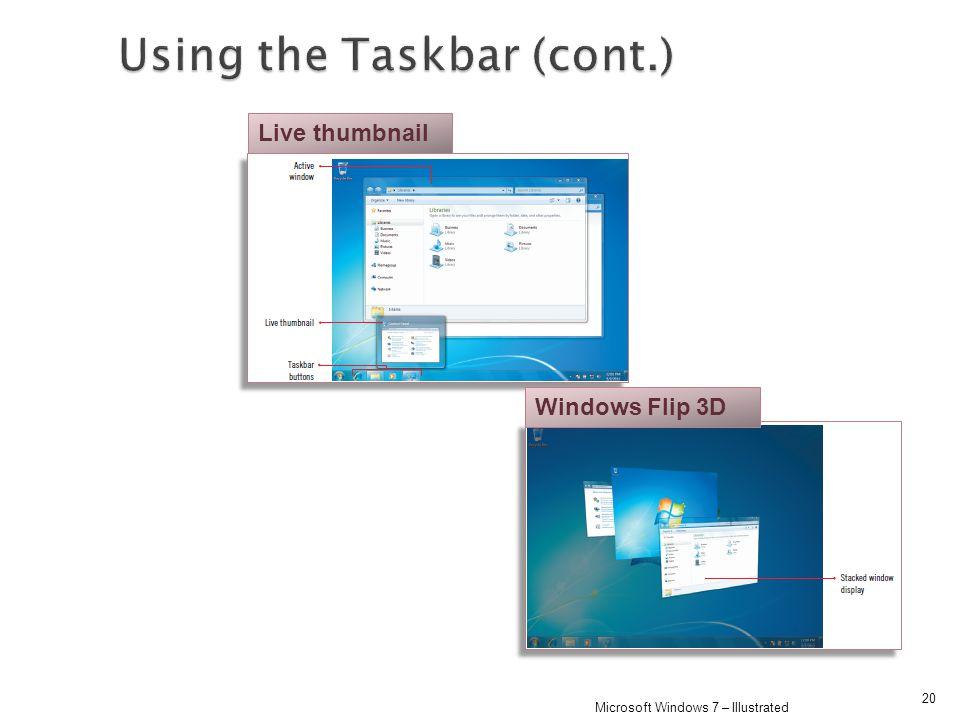 20 Microsoft Windows 7 – Illustrated Live thumbnail Windows Flip 3D