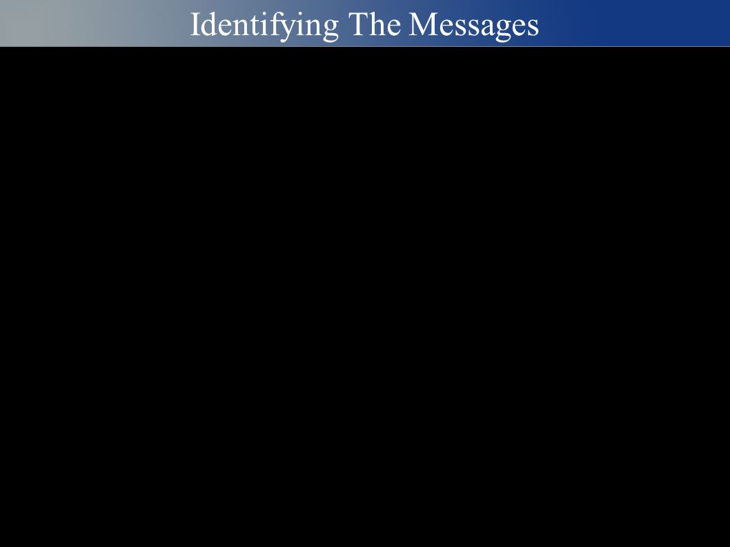 Identifying The Messages