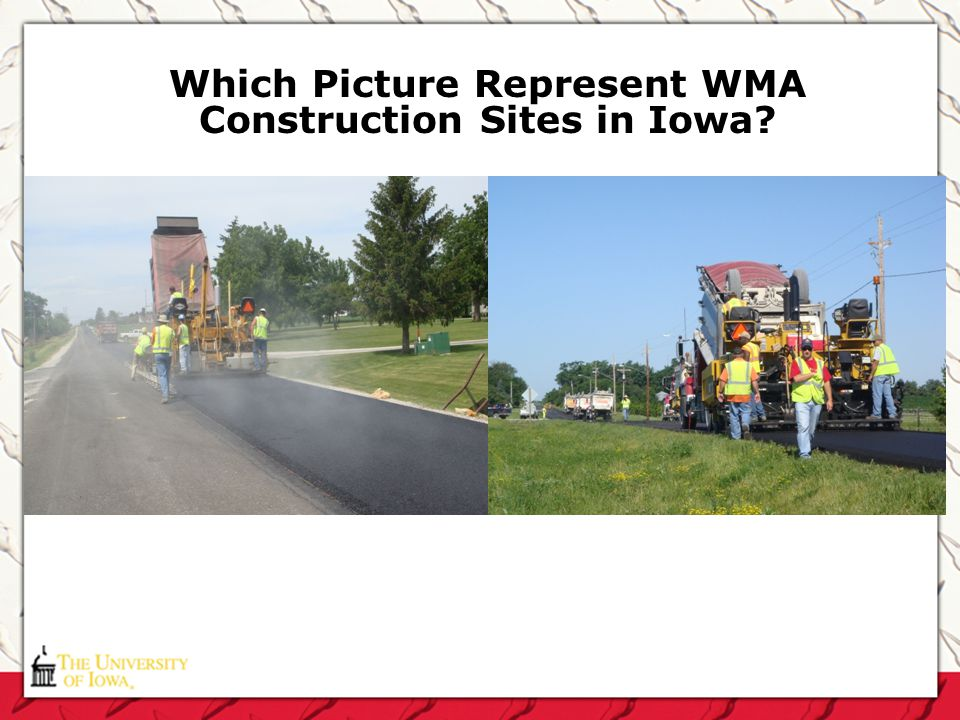 Which Picture Represent WMA Construction Sites in Iowa?