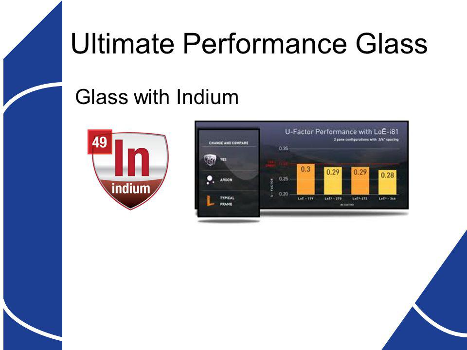 Ultimate Performance Glass Glass with Indium