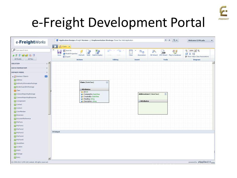e-Freight Development Portal