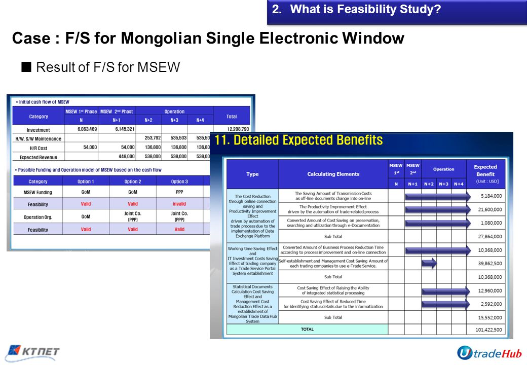 Case : F/S for Mongolian Single Electronic Window 2.What is Feasibility Study.