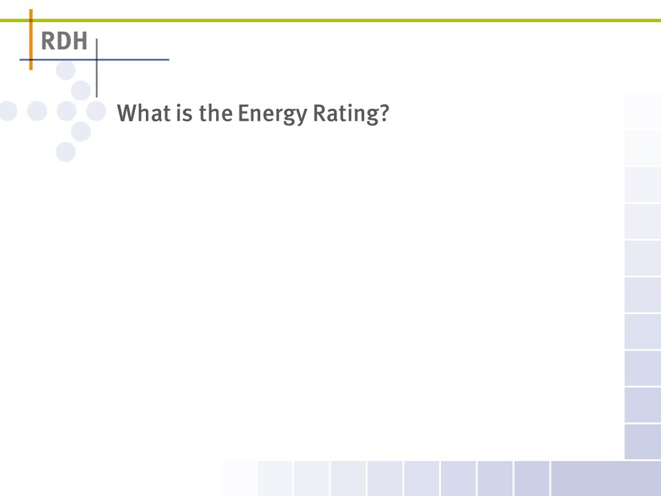 What is the Energy Rating?