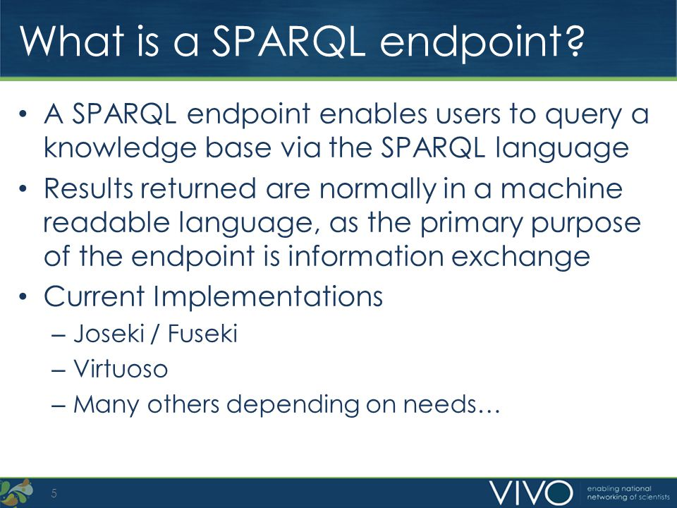 Why use a SPARQL endpoint.