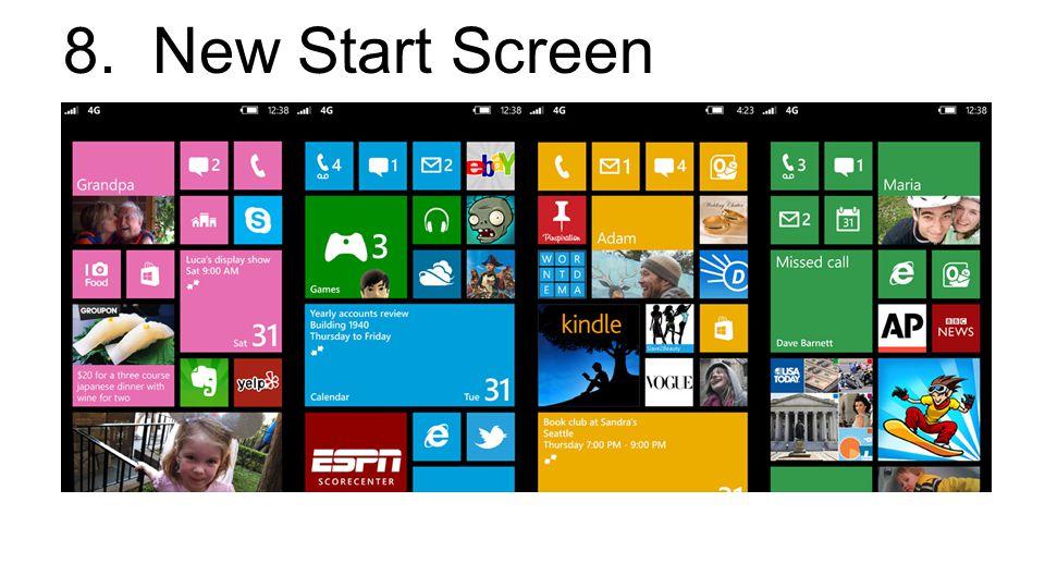 8. New Start Screen