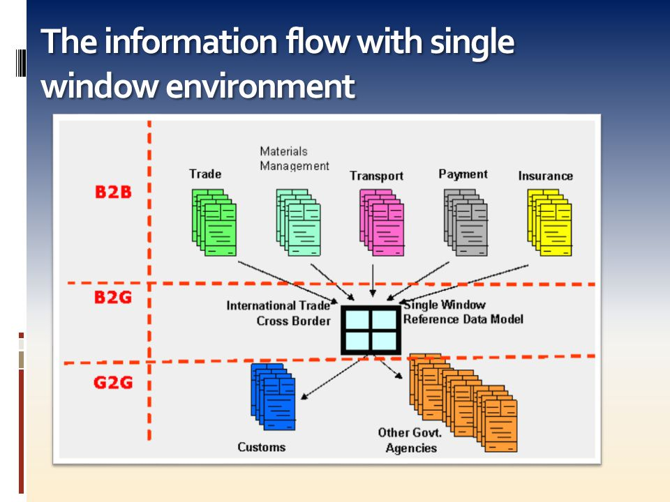 The information flow with single window environment