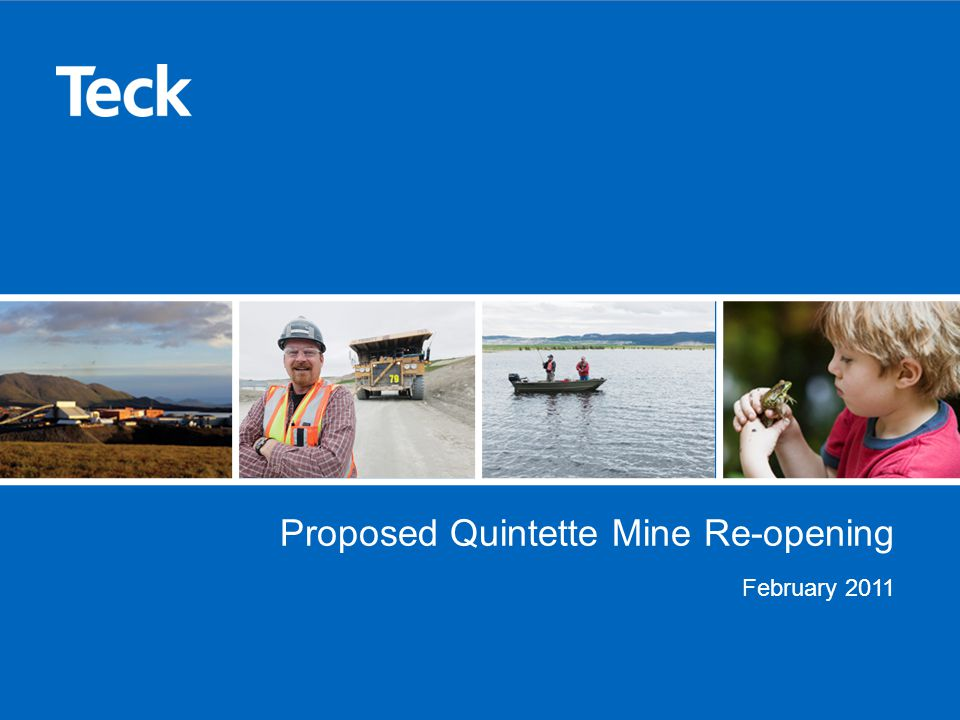 Proposed Quintette Mine Re-opening February 2011
