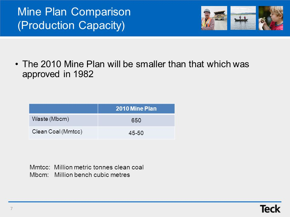 Mine Plan Comparison (Production Capacity) The 2010 Mine Plan will be smaller than that which was approved in 1982 7 Mmtcc: Million metric tonnes clean coal Mbcm: Million bench cubic metres 2010 Mine Plan Waste (Mbcm) 650 Clean Coal (Mmtcc) 45-50