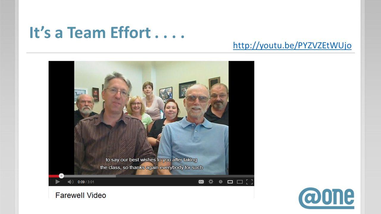 Its a Team Effort.... http://youtu.be/PYZVZEtWUjo