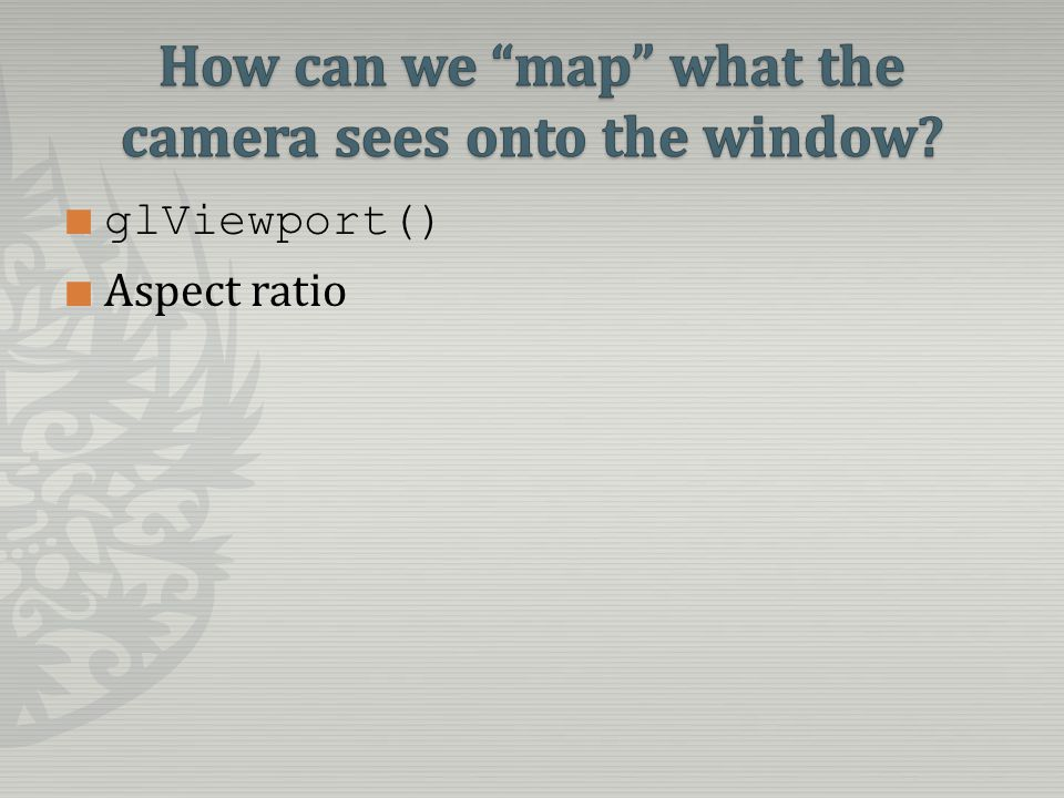 glViewport() Aspect ratio
