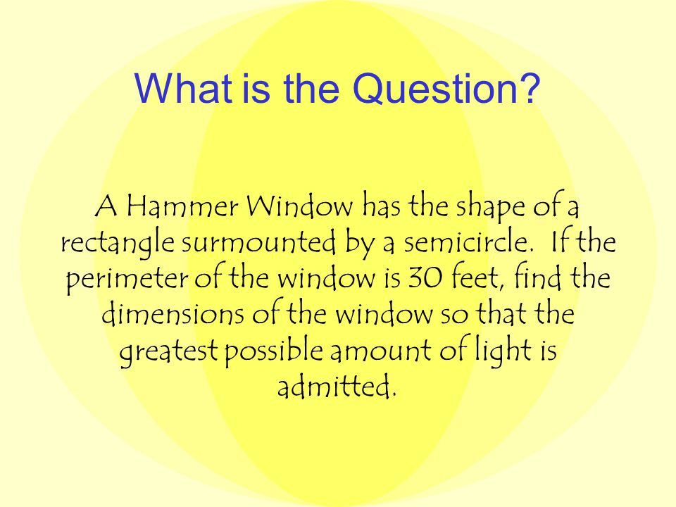 The Hammer Window