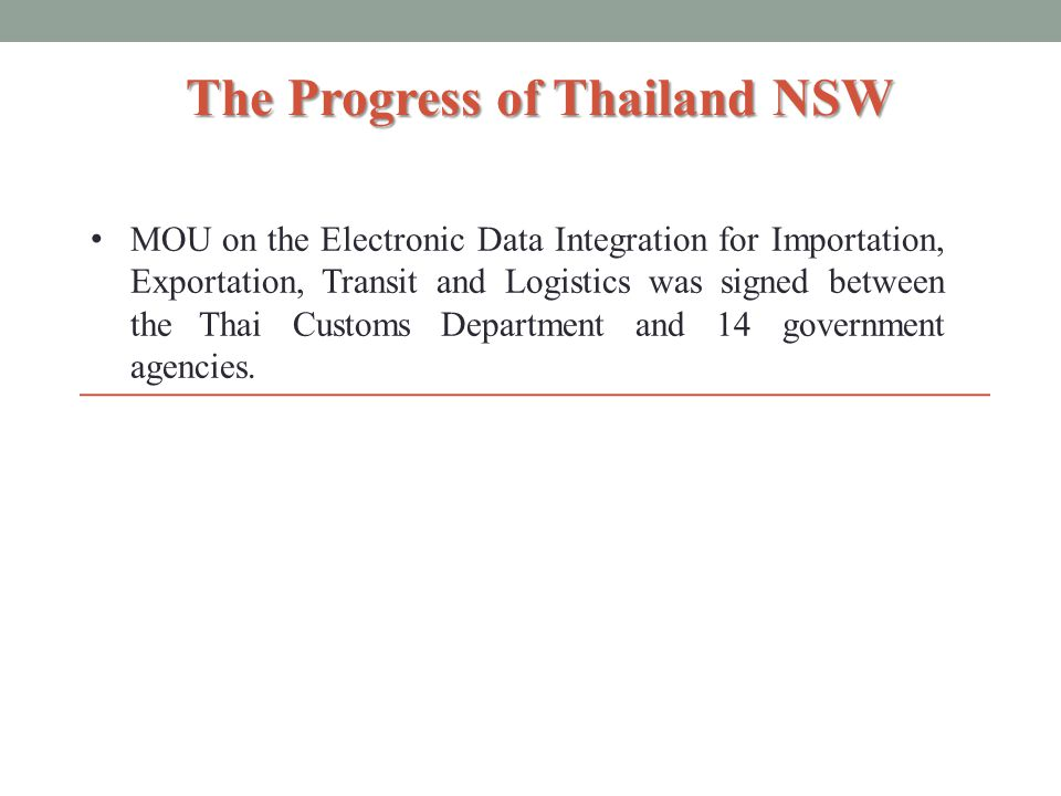 The Customs Department Import/Export Declaration, Manifest, License, Payment, etc.