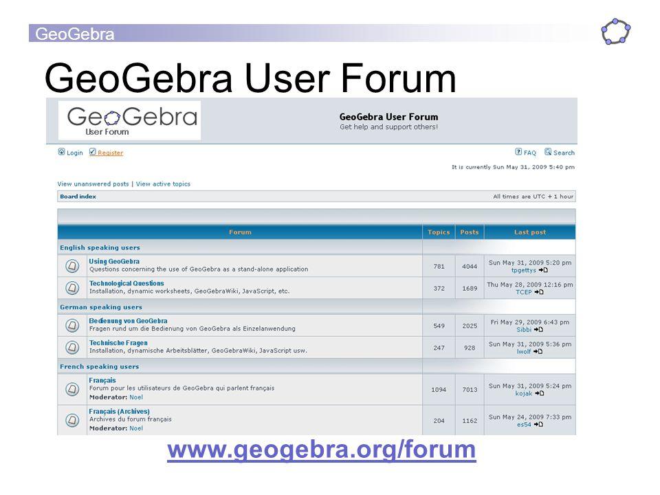 GeoGebra GeoGebra User Forum www.geogebra.org/forum