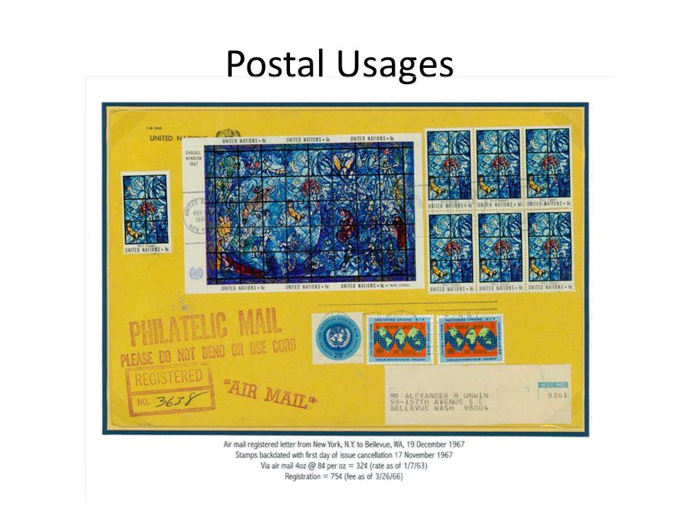 Postal Usages