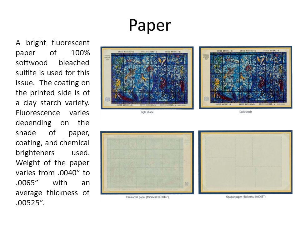 Paper A bright fluorescent paper of 100% softwood bleached sulfite is used for this issue.