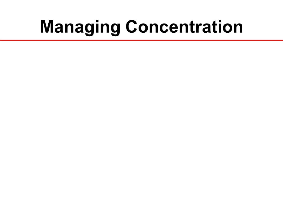 Managing Concentration