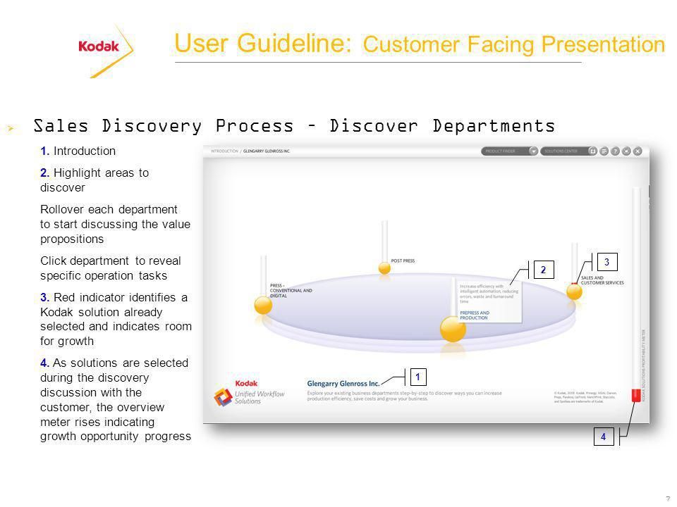 7 Sales Discovery Process – Discover Departments 1.