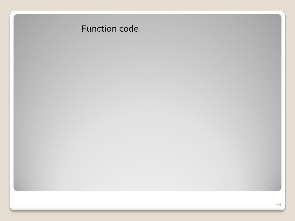 Function code 14