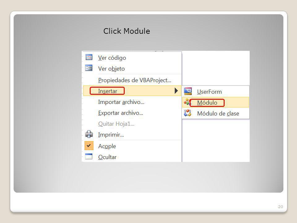 Click Module 20