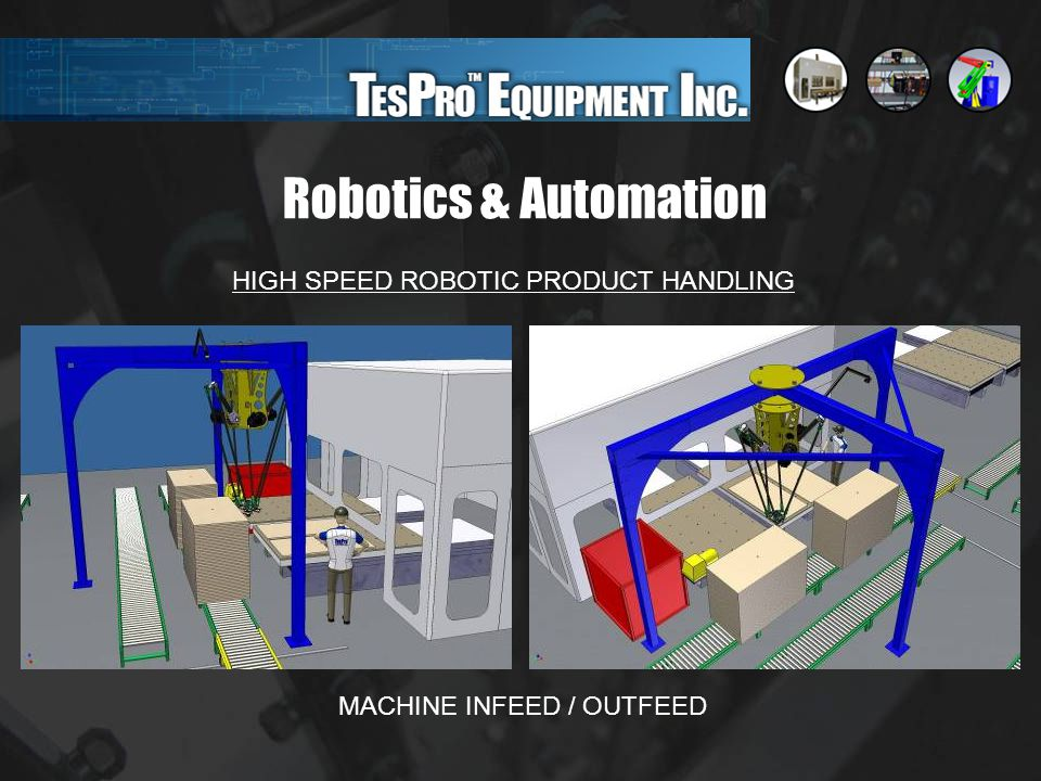 Robotics & Automation HIGH SPEED ROBOTIC PRODUCT HANDLING MACHINE INFEED / OUTFEED