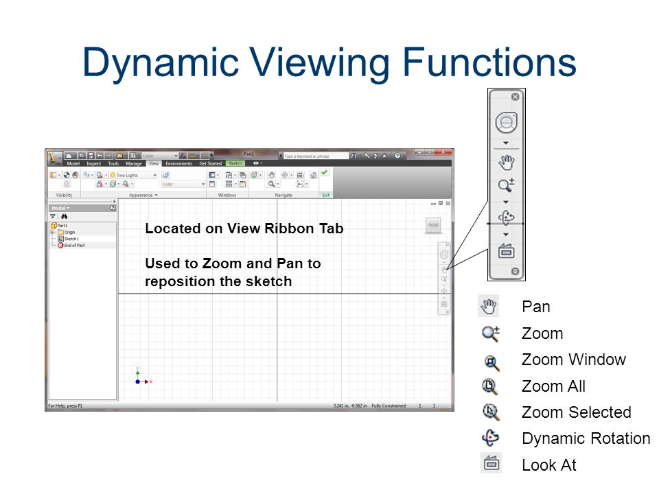 Precise Input The Precise Input toolbar is added by expanding the Draw panel and selecting Precise Input Create the shapes that you labeled in Activity 1.5.1 The Coordinate System and Descriptive Geometry.