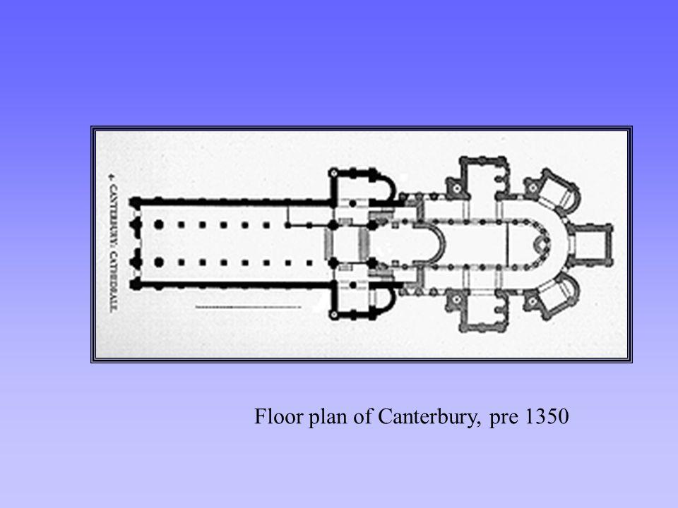 Floor plan of Canterbury, pre 1350