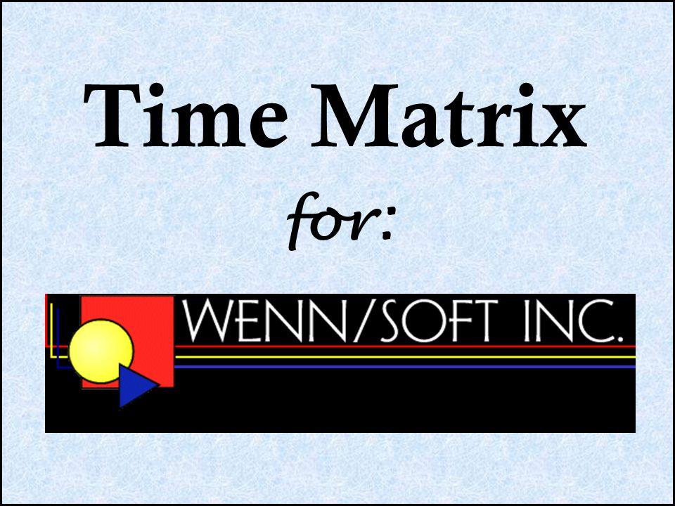 for: Time Matrix