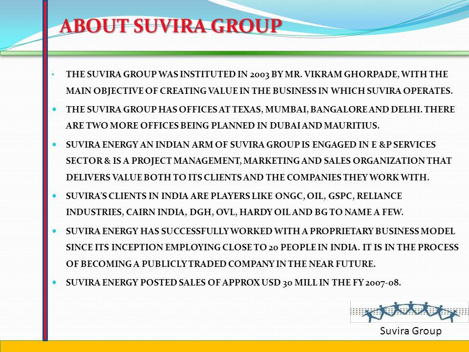 Suvira Group Corporate presentation