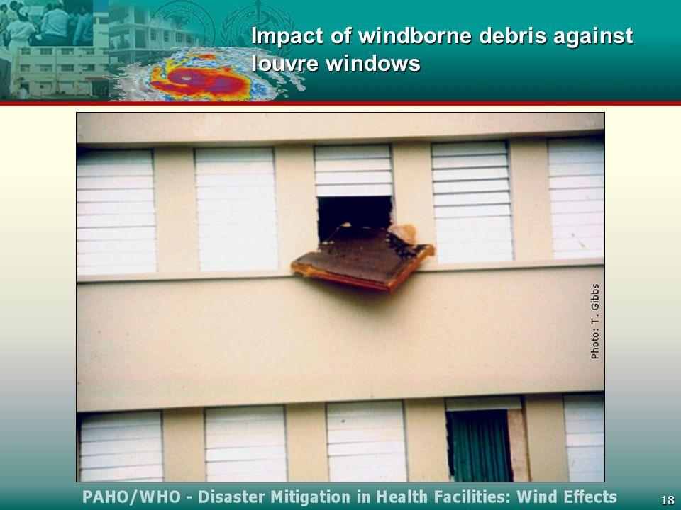 18 Impact of windborne debris against louvre windows