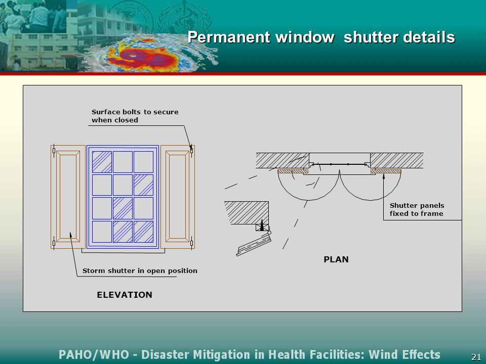 21 Permanent window shutter details