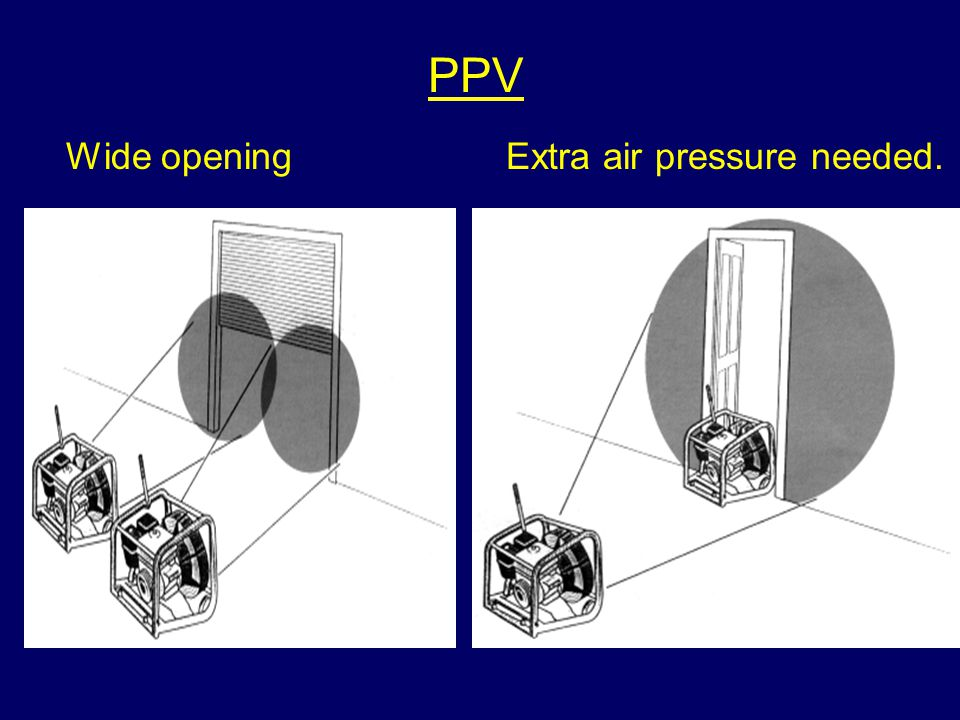 PPV Wide openingExtra air pressure needed.