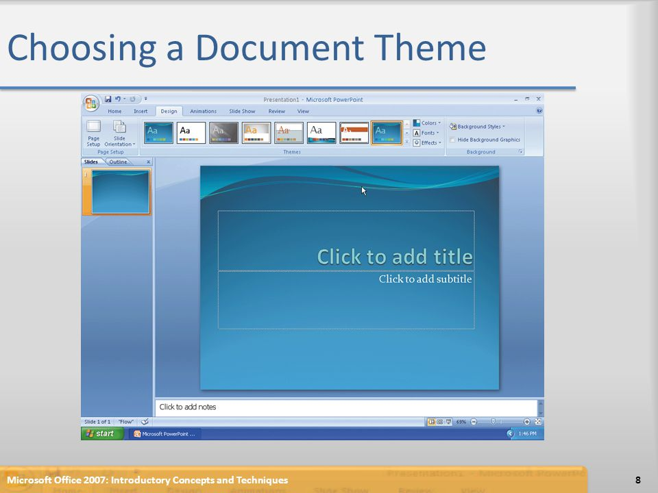 Creating a Third-Level Paragraph Click the Increase List Level button so that the second-level paragraph becomes a third-level paragraph Type Instructors available for beginners and then press the ENTER key to create a second third-level paragraph Click the Decrease List Level button two times so that the insertion point appears at the first level Microsoft Office 2007: Introductory Concepts and Techniques39