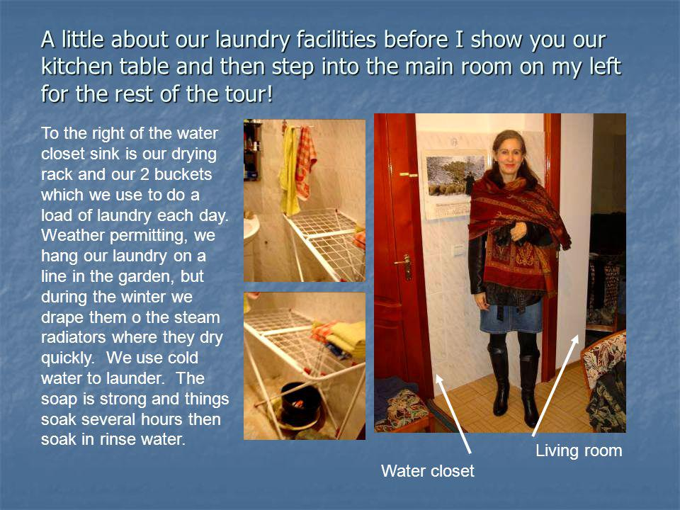 A little about our laundry facilities before I show you our kitchen table and then step into the main room on my left for the rest of the tour.