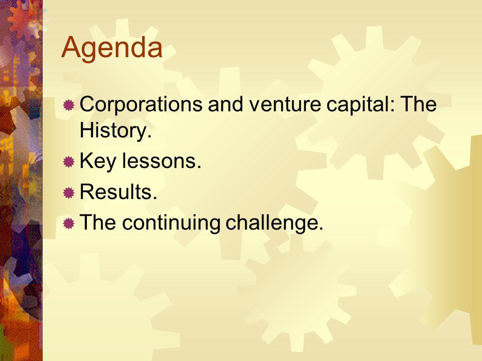 Corporate Venture Capital Three waves of venture capital.
