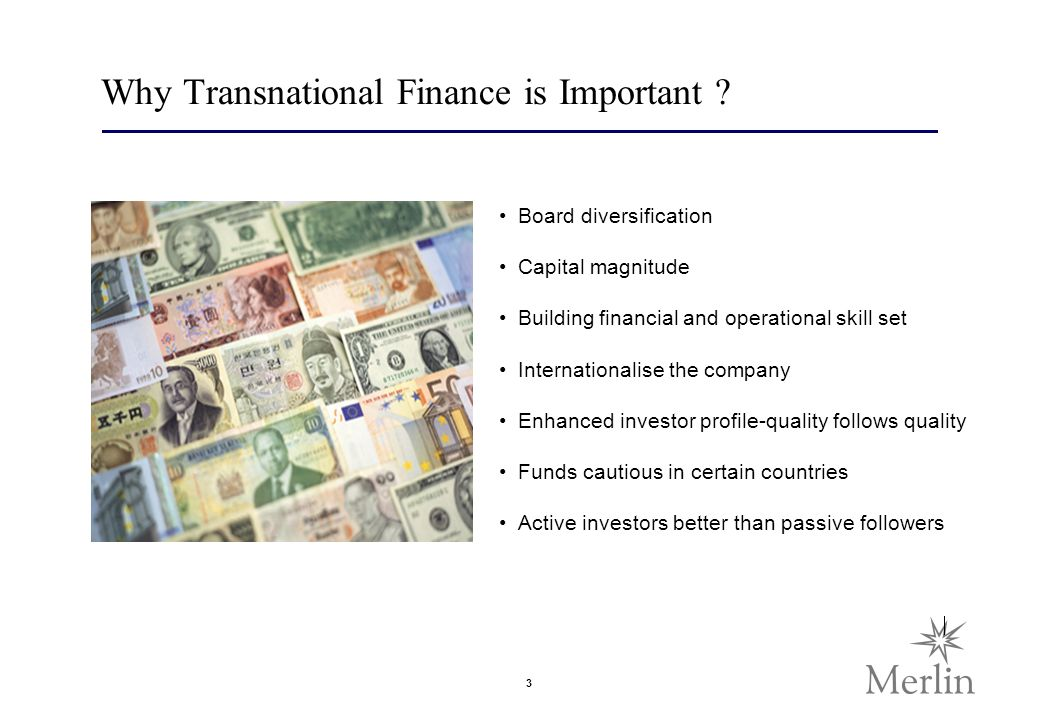 3 Why Transnational Finance is Important .