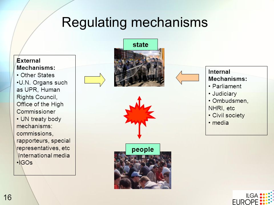 16 Regulating mechanisms state people External Mechanisms: Other States U.N.
