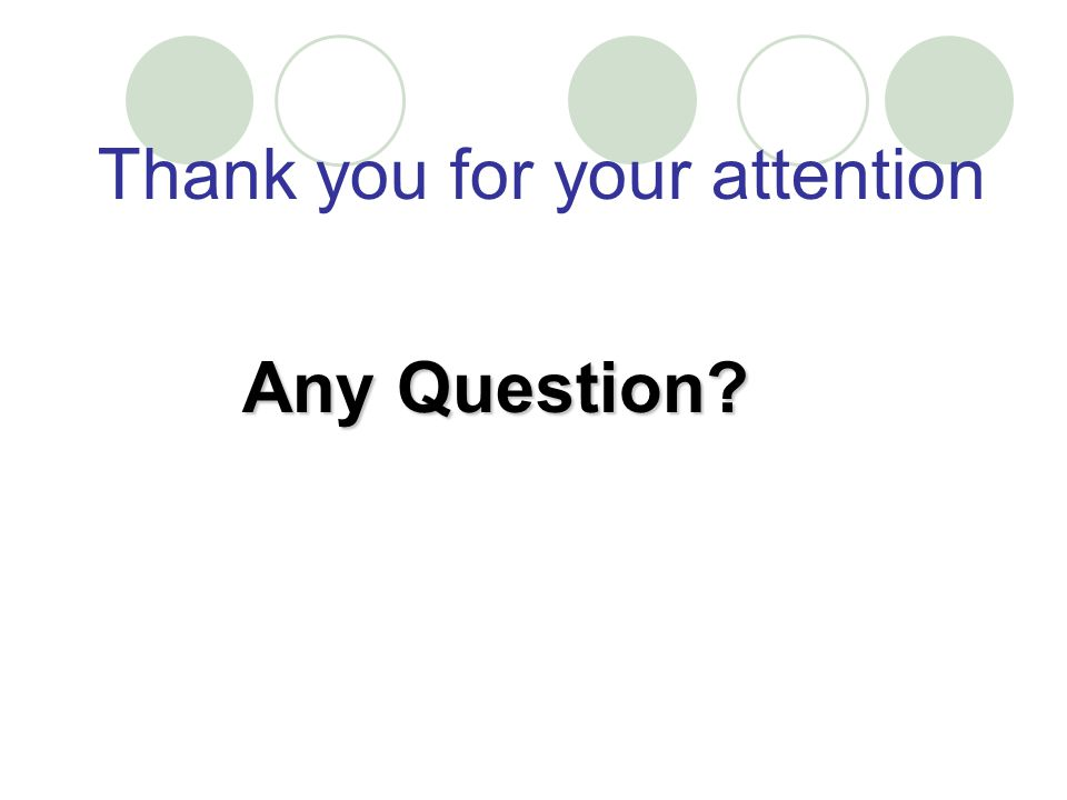 Thank you for your attention Any Question?
