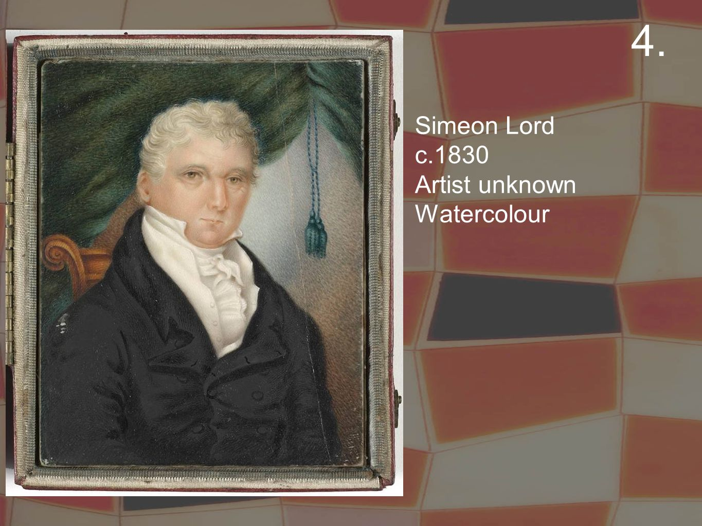 Simeon Lord c.1830 Artist unknown Watercolour 4.